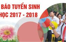 TUYỂN SINH NĂM HỌC 2017 – 2018