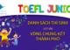DANH SÁCH HỌC SINH THCS ĐÀO DUY TỪ LỌT VÀO VÒNG CHUNG KẾT THÀNH PHỐ CUỘC THI TOEFL JUNIOR CHALLENGE 2020-2021